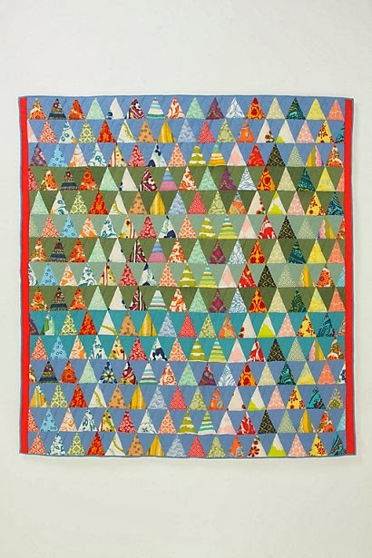Molly Flanders Equalaterial Triangle Quilt