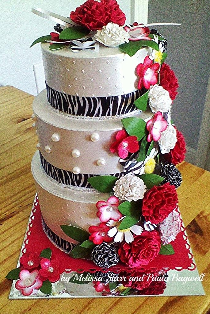 Paulas Space: Bridal Shower - WEDDING CAKE Gift Card Box