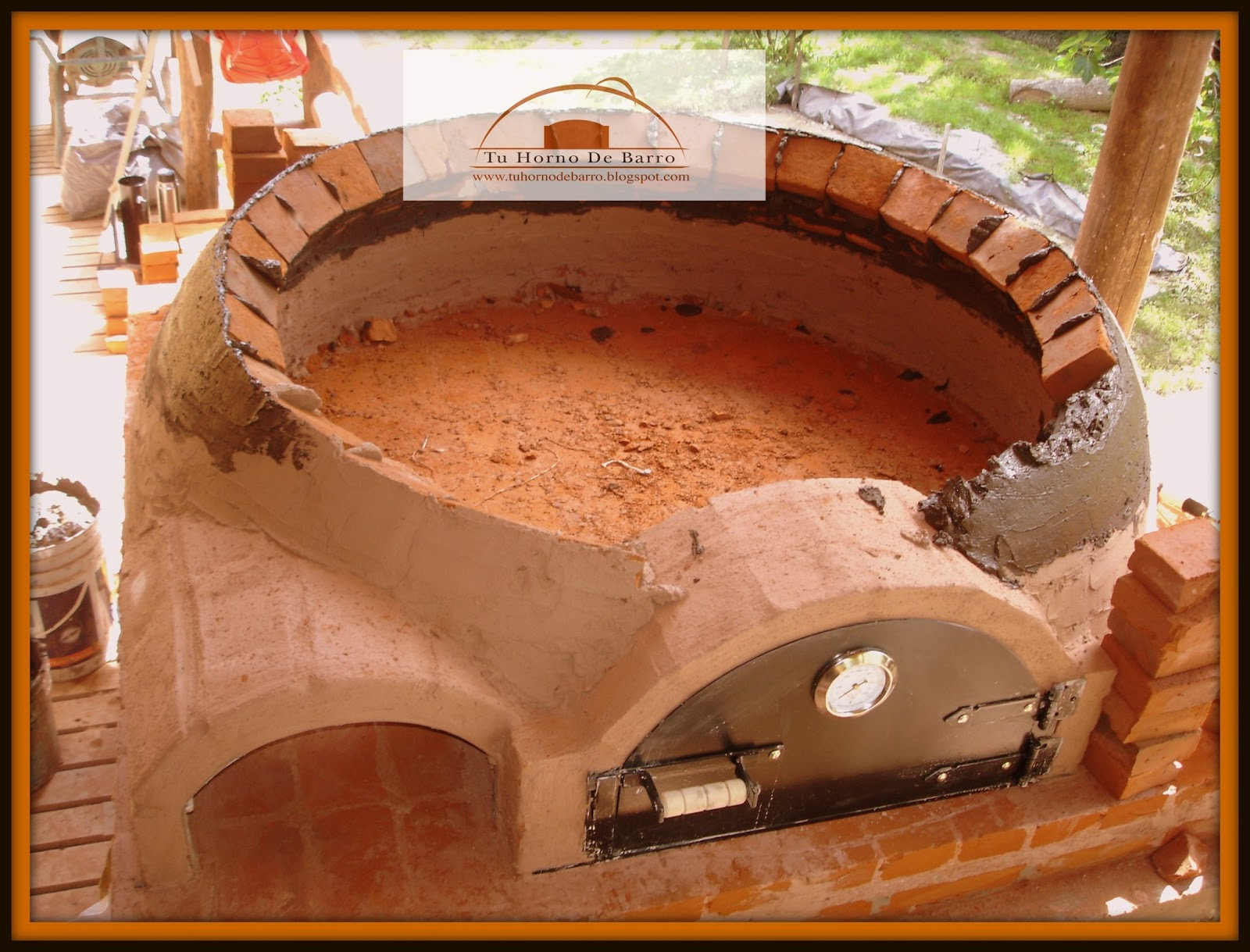 Hornos de barro artesanales gastron micos horno de barro for Construccion de un vivero paso a paso