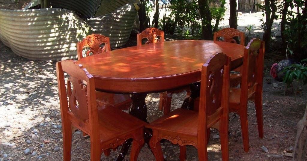 Muebles de cedro rojo  Veracruz Sillas y Mesas