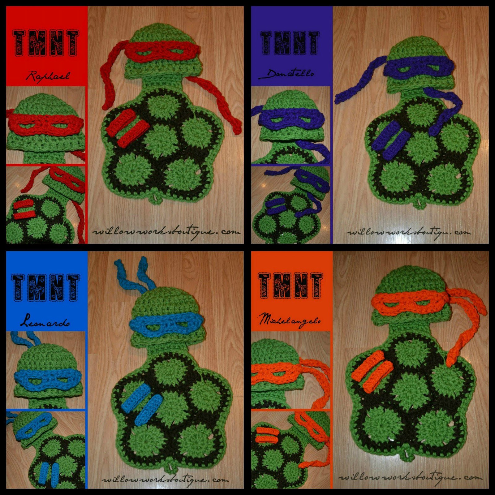 Free Crochet Pattern For Ninja Turtle Hat With Mask : Calleighs Clips & Crochet Creations: Free Pattern ...