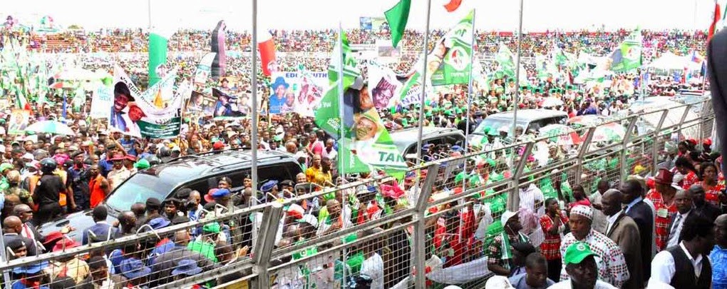 President Goodluck Jonathan and sambo storm Benin city