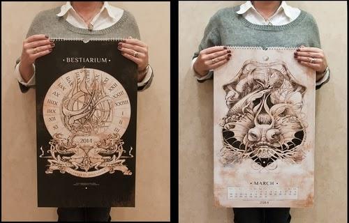 00-Front-Page-Irina-Vinnik-2014-Bestiary-Calendar-Design-www-designstack-co