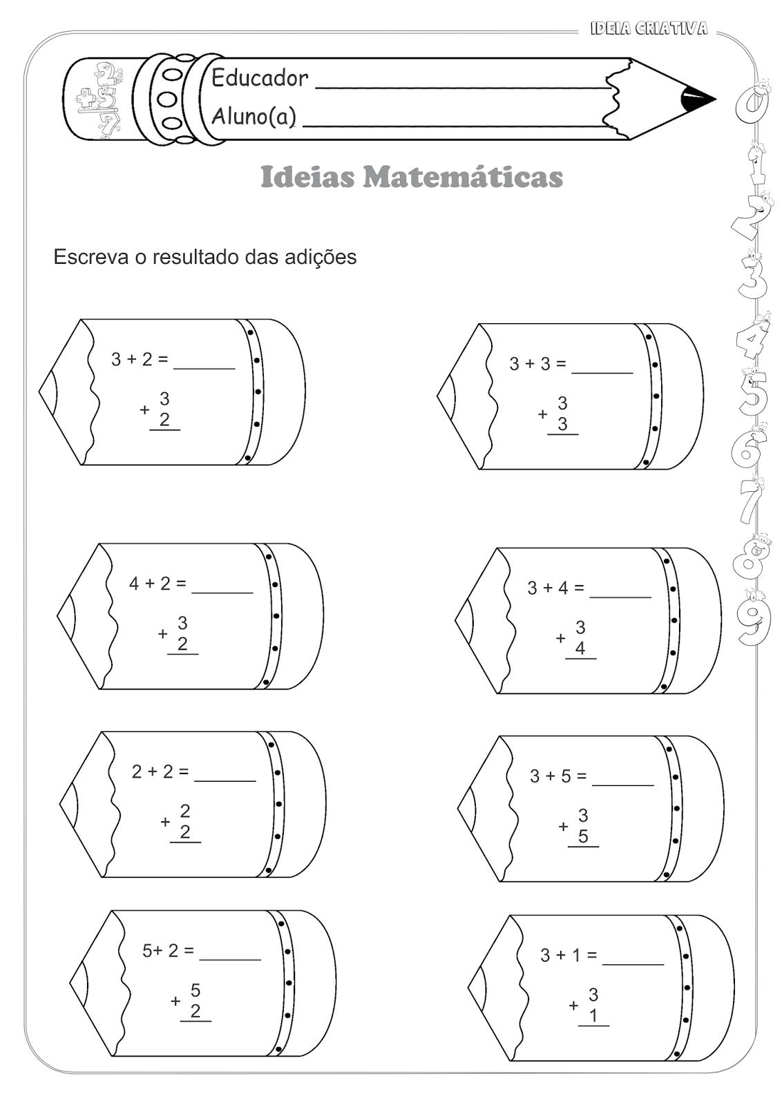 Atividades Educativas Matemática Operações Básicas (Adição) para Ensino Fundamental