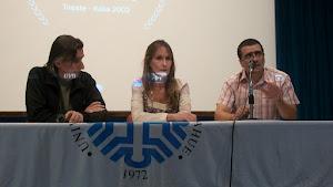 Martín Mujica, Mariana Arruti y Marcos Muñoz