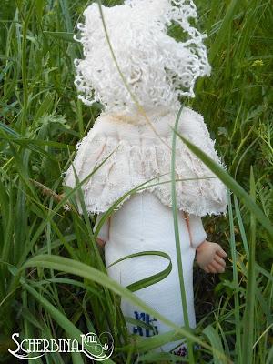 Текстильная кукла Пасхальный Ангел