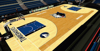 NBA 2K14 Timberwolves HD Court Mod