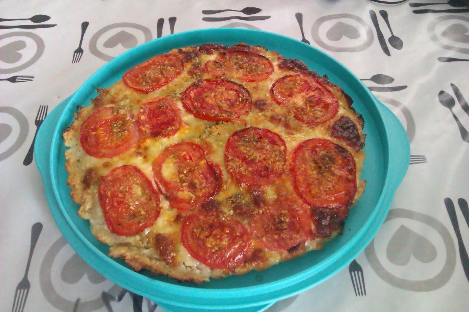 ma cuisine tupperware tarte tomate mozza pistou. Black Bedroom Furniture Sets. Home Design Ideas