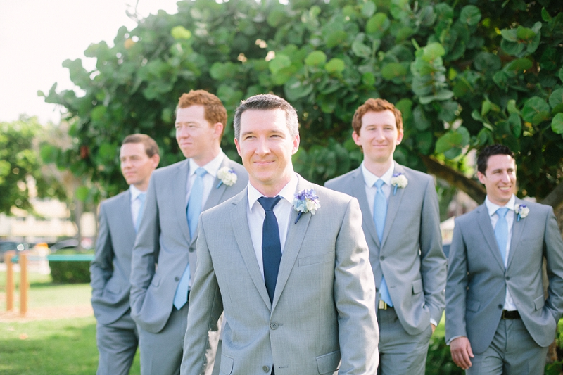 bridal party Florida beach wedding photography