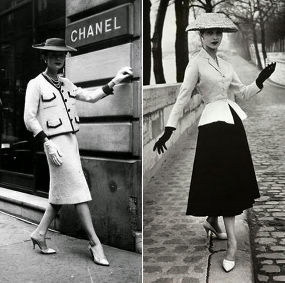 Saia midi usada por Coco Chanel e Christian Dior