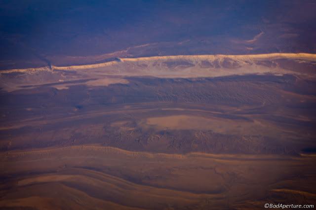 Barren Landscape from Air