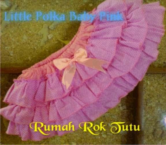 ROK TUTU KATUN : LITTLE POLKA BABY PINK