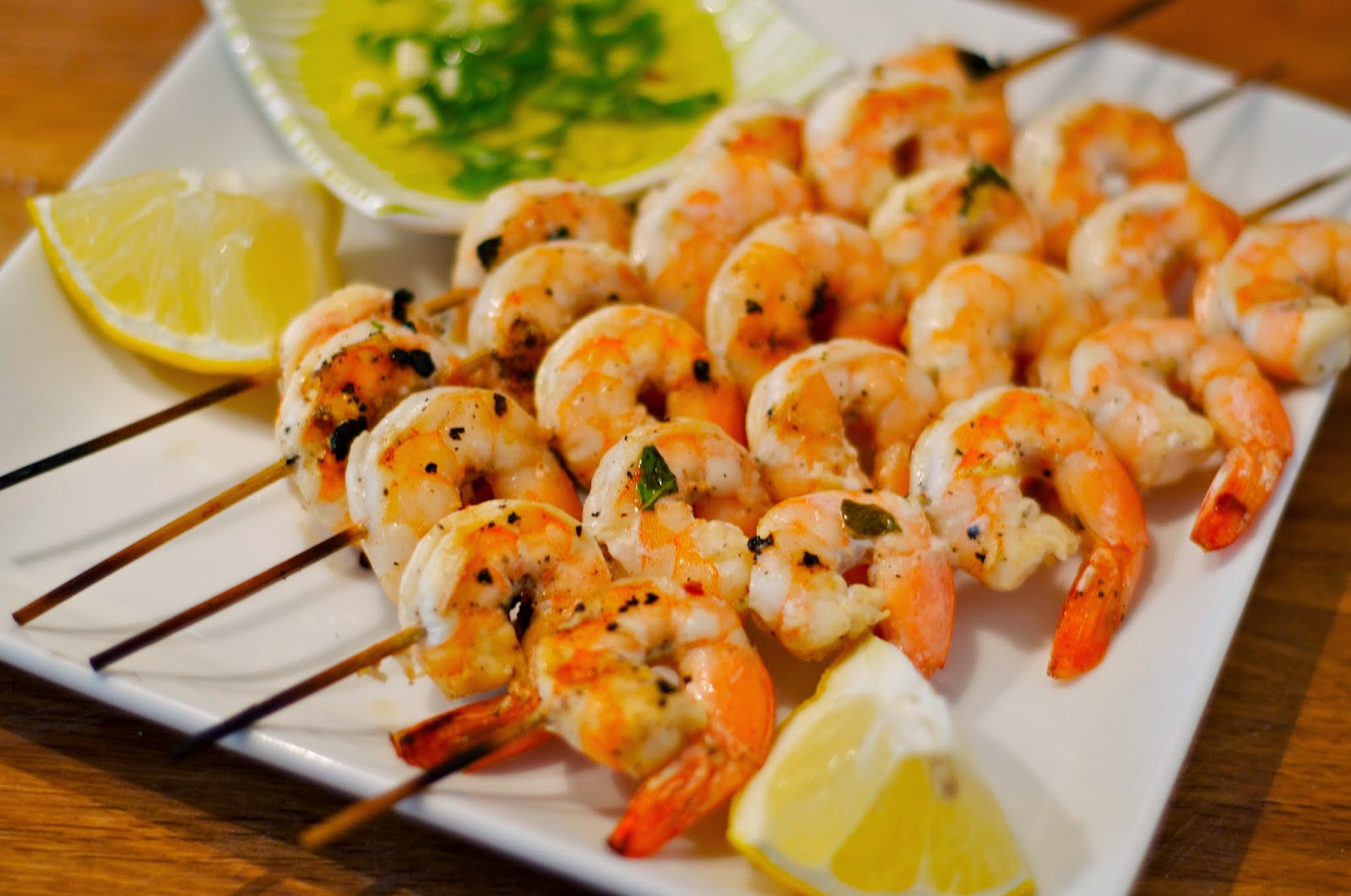 One Classy Dish: Lemon Garlic Grilled Shrimp