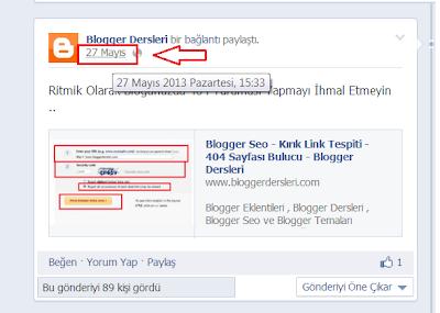 Blogger Yayın İçerisinde Facebook Post Göstermek
