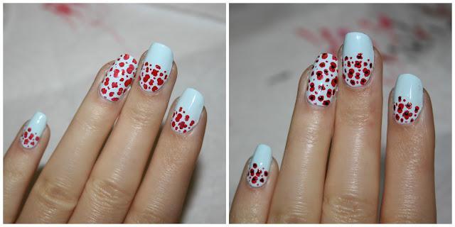 Remembrance Day Poppy Nail Art
