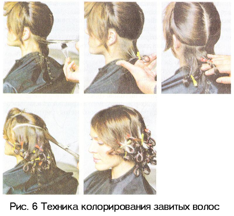 Последовательность окрашивания волос 5