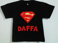 kaos flanel superman