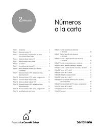 NÚMEROS A LA CARTA 2º