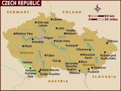 República Checa Mapa del País