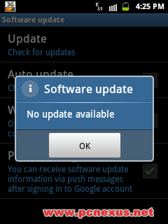 galaxy y no update
