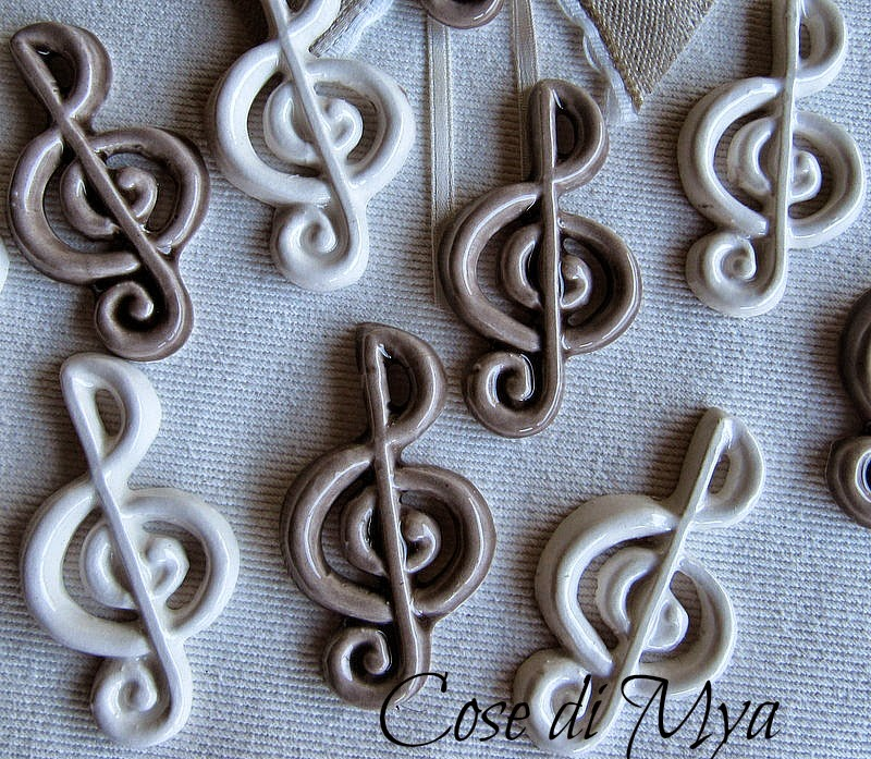 chiavi di violino in ceramica