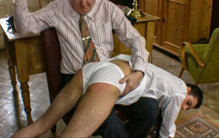 spanked underwear Boy on
