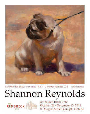 A solo exhibition of paintings by Shannon Reynolds at the Red Brick Cafe in Guelph
