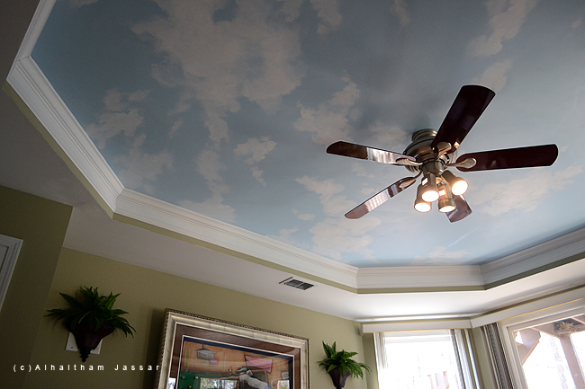 Jassar 39 s blog a new sky ceiling mural for Ceiling mural sky