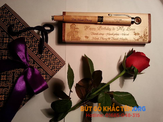 Quà tặng Bút gỗ khắc tên đẹp, ý nghĩa