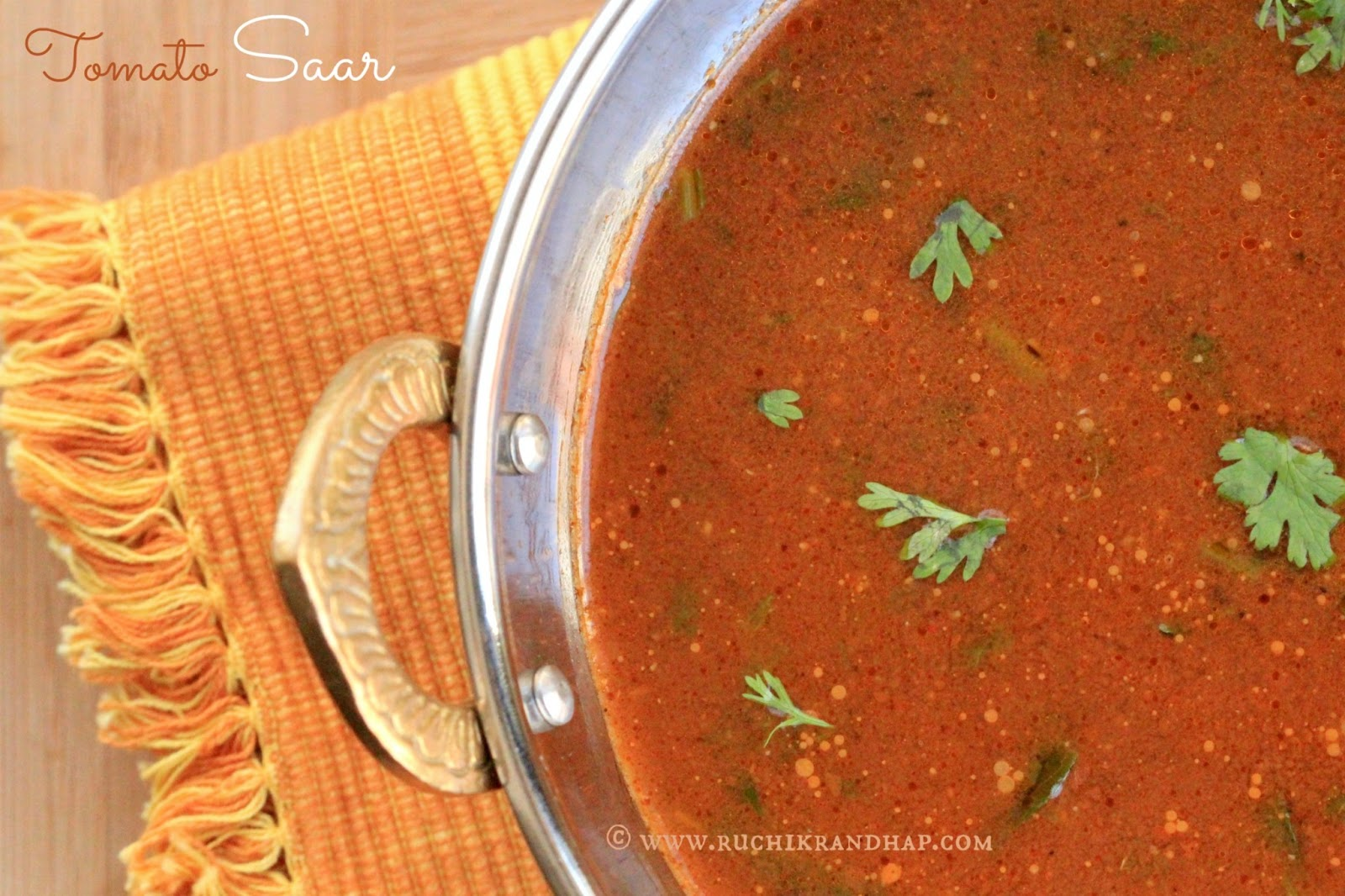 Tomato Saar With Cumin Pepper Spicy Watery Tomato Soup