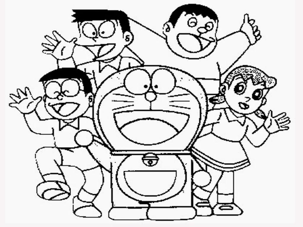 Gambar Mewarnai Doraemon