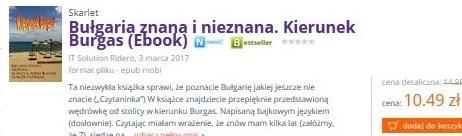 Ebook - wśród bestsellerów m-ca IV, V, VI, VII, VIII 2017 w księgarni Lideria