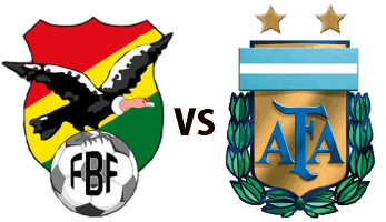 Argentina vs Bolivia Logo and Flag