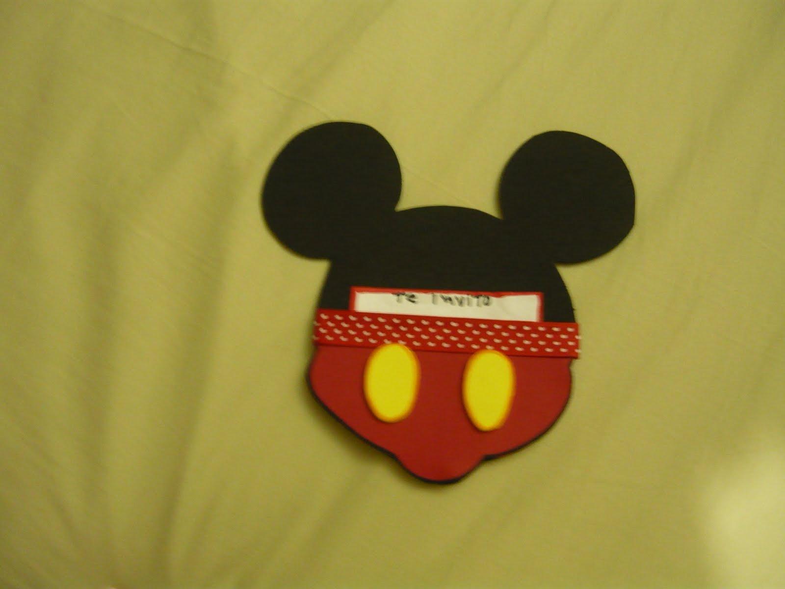 Tarjeta de invitacion mickey mouse