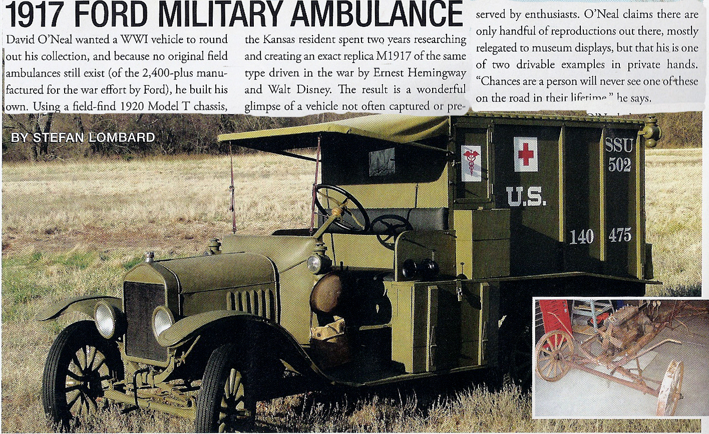 Just A Car Guy: 1917 Ford WW1 Military Ambulance, none remain that ...