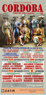 Feria de Córdoba 2014 - Cartel taurino