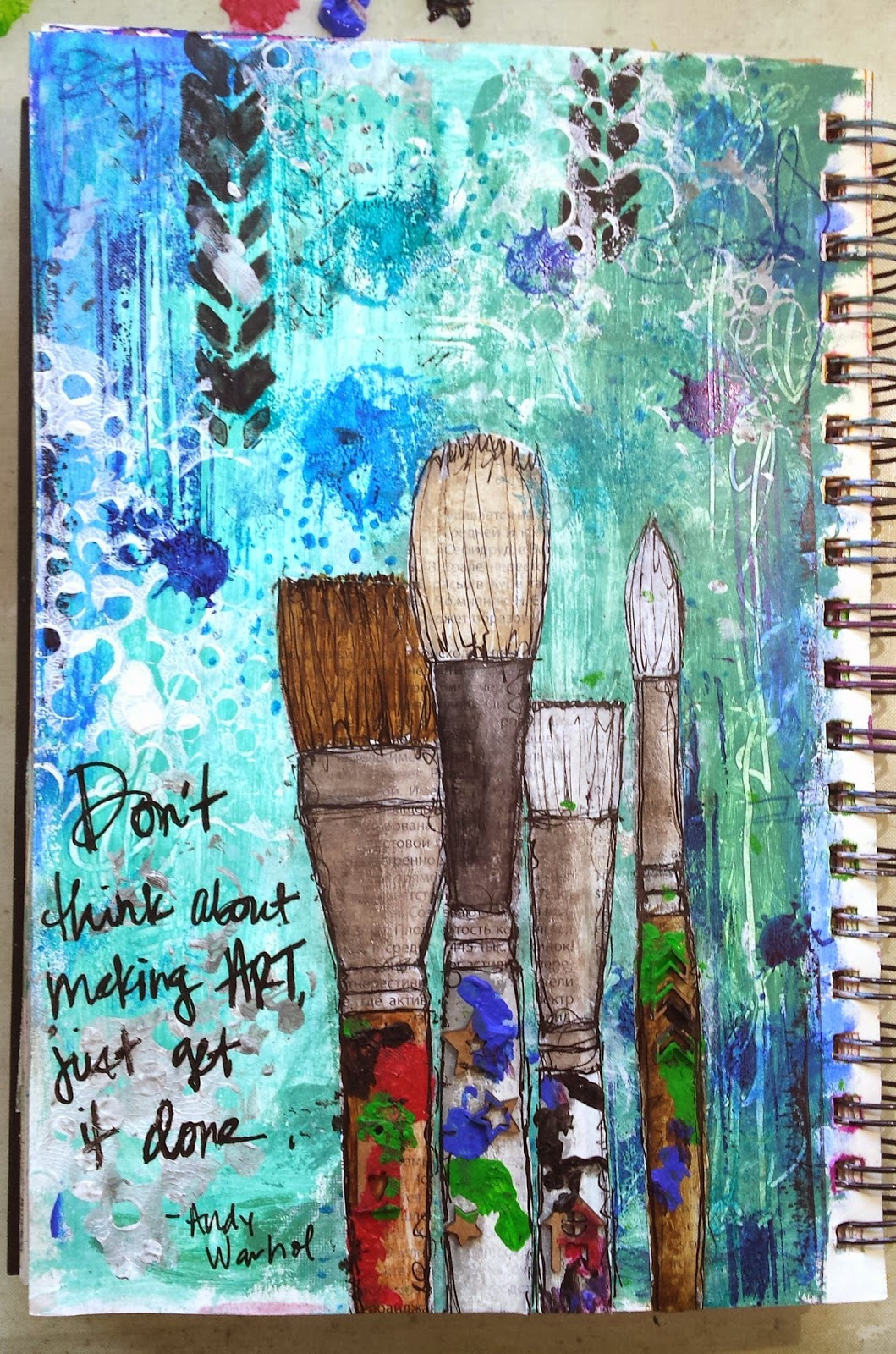 My Art Book Cover : Umwowstudio my motivational art journal page