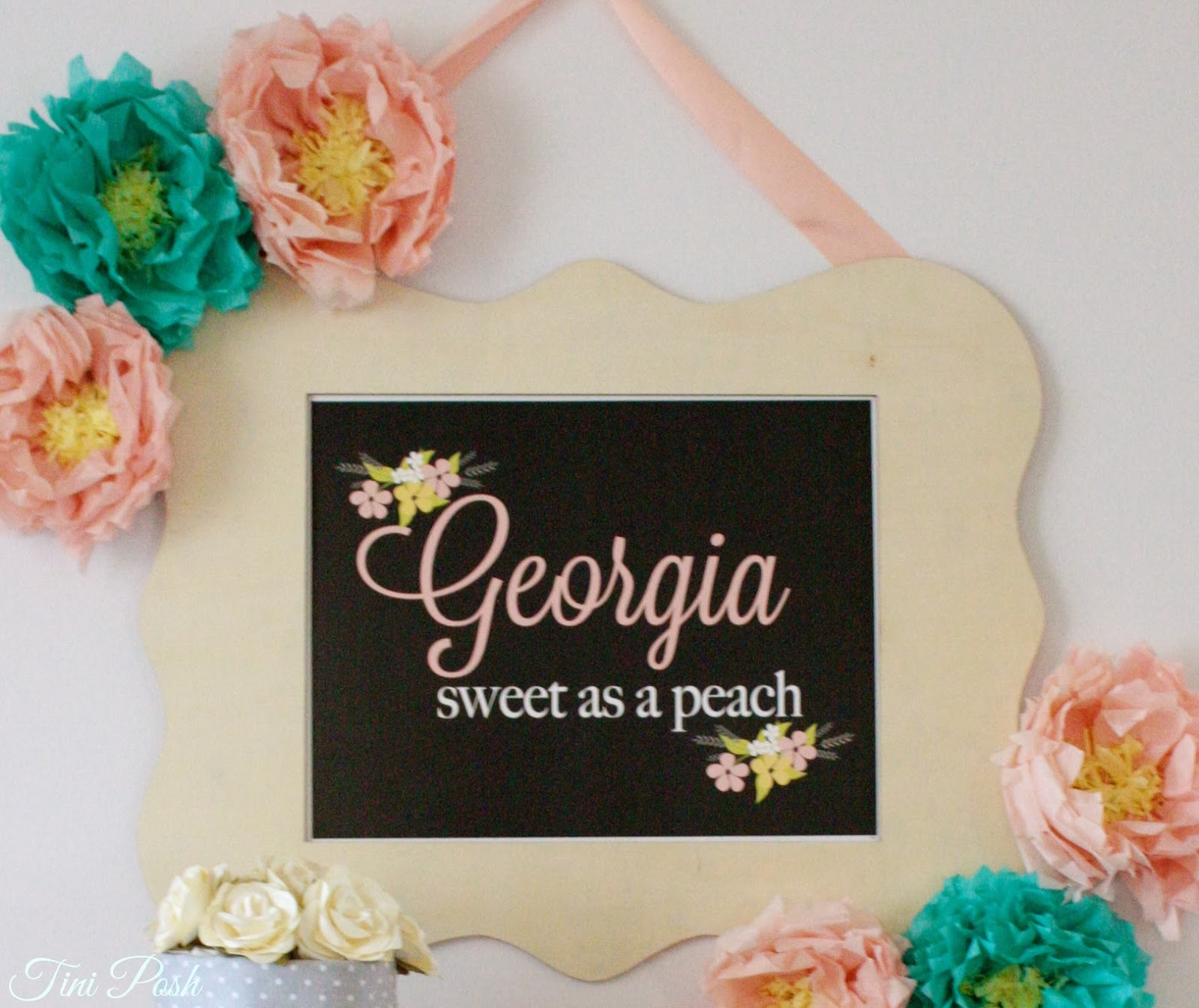 tini posh georgia sweet as a peach baby shower