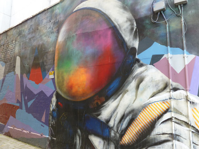 Fist Recoat Spaceman graffiti Glasgow