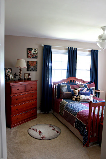Parker S Room Vintage Baseball Boys Bedroom Love