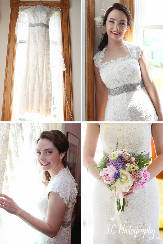 Ann Taylor Bridal Gown, Bridal Bouquet, Michigan Wedding Photographer