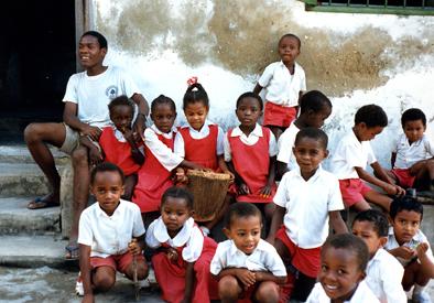 Escolares en Zanzíbar