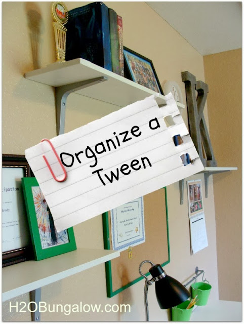 how to organize a tween's room