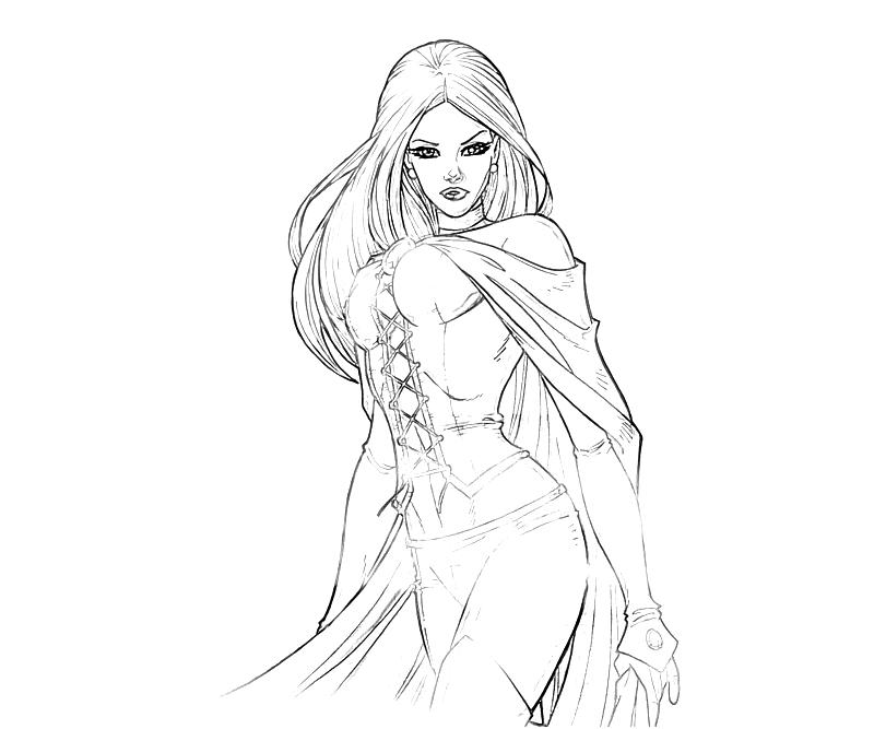 Printable Emma Frost Cute Coloring Pages