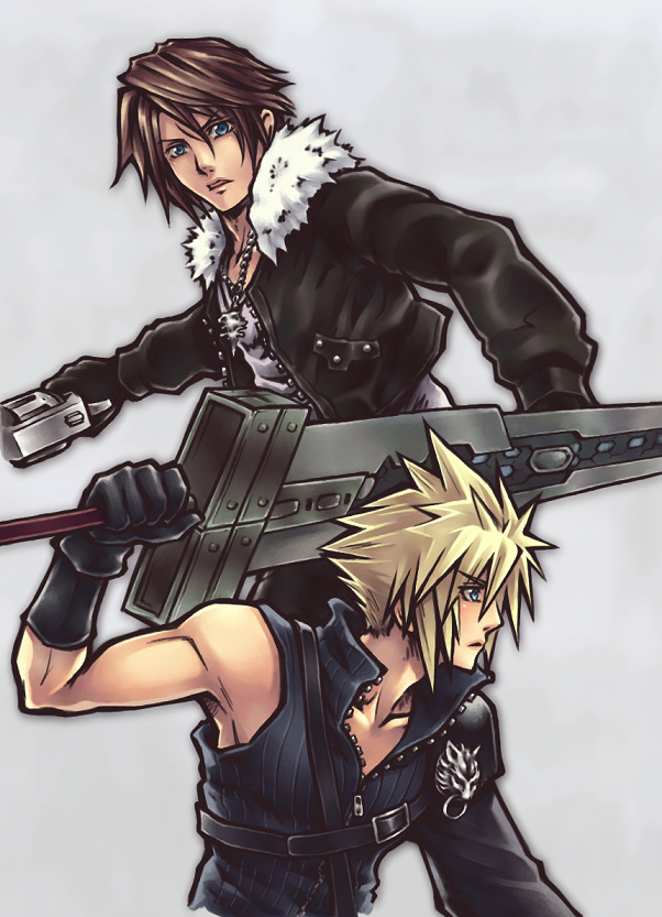 Final Kingdom Squall Leonhart And Cloud Strife FF KH