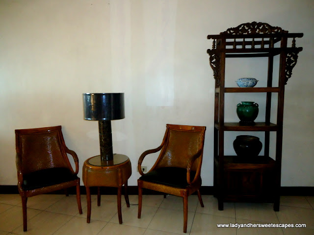 another antique chairs at Hotel Alejandro Tacloban