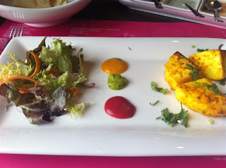 Stitch and Bear - Achari paneer starter at Indie Spice Sandymount
