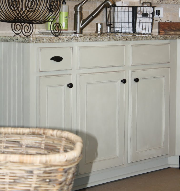 Gray Painted Kitchen Cupboards: The Little Cottage On The Pond...: Chalk Painted Cottage