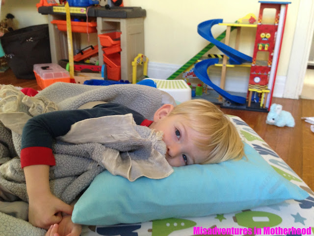 what to do with a kid home sick