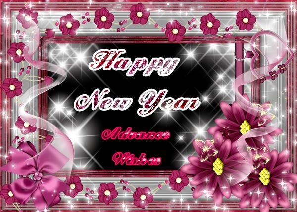 Stylish Happy New Years Advance Wishes 2015 Cards Images